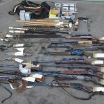 Photograph of Weapons seized in New Jersey